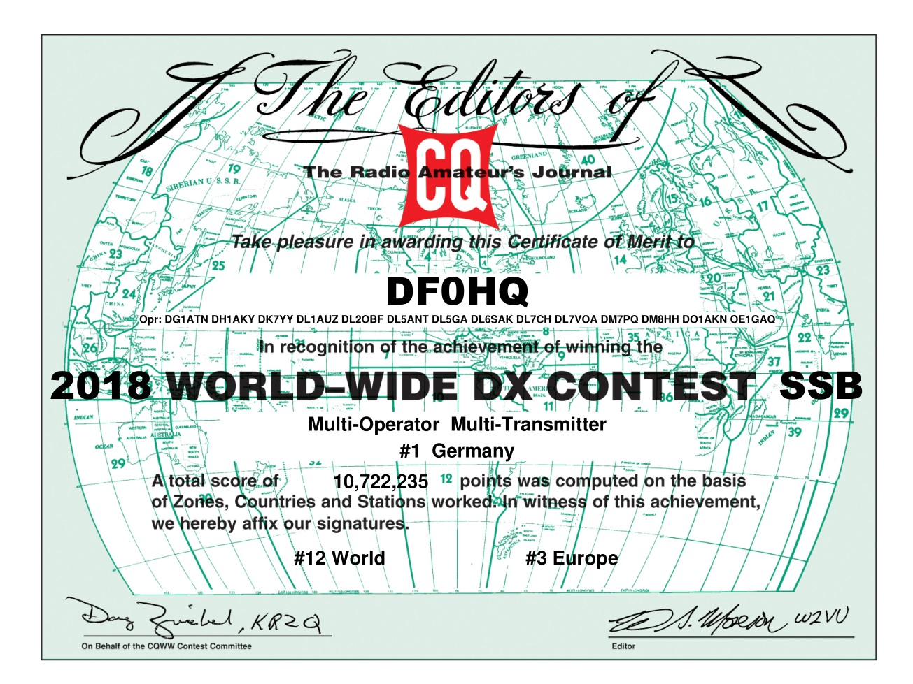 CQ WW SSB contest
